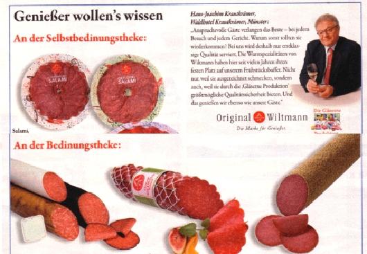 Wiltmann-Anzeigenseite