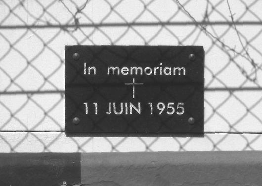 Gedenktafel Le Mans 1955