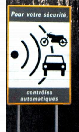 Radarwarnschild Frankreich