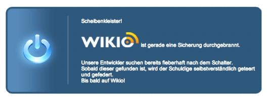 Wikio-Error