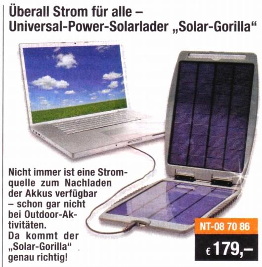 Solar-Gorilla-Anzeige