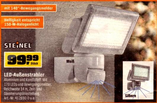 OBI-Steinel-Außenstrahler