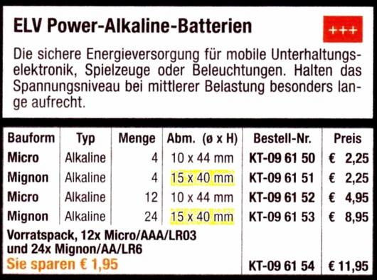 ELV-Batterien