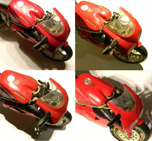 Ducati-LED-Kleeblatt klein