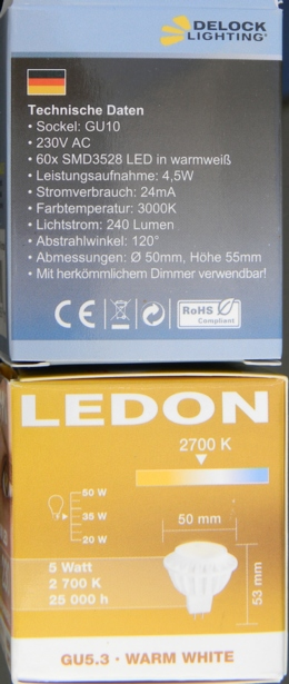LED-Spot-Verpackungen