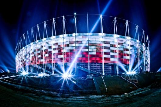 Stadionfassade Warschau