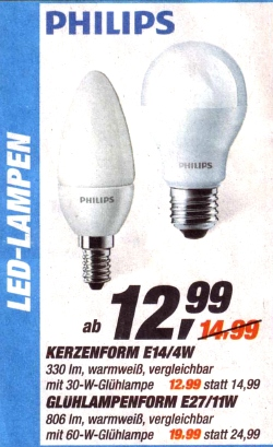 toom KW44 Philips-LED