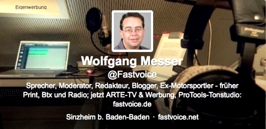 Fastvoice-Eigenwerbung mit Twitter-Link