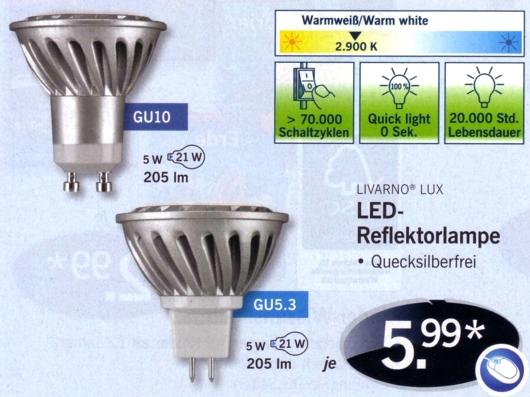 Lidl-LED-Spots MR16 11/12