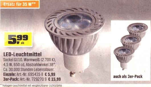 OBI-LED-Spot 11/12