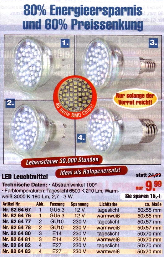 Westfalia-LED-Spots