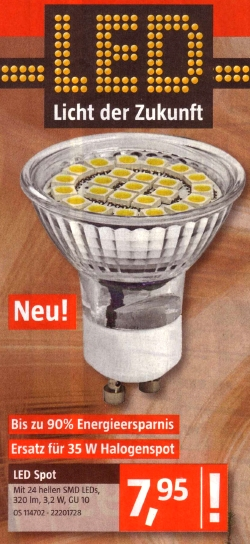 Bauhaus-LED-Spot 12/12