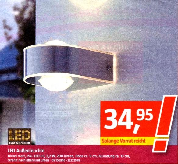 Bauhaus-LED-Außenleuchte April 2013