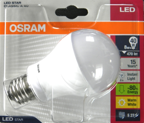 Osram LED Star Classic A 40 Packung