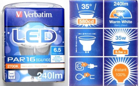 Verbatim_GU10_6,5W_Packung:Daten
