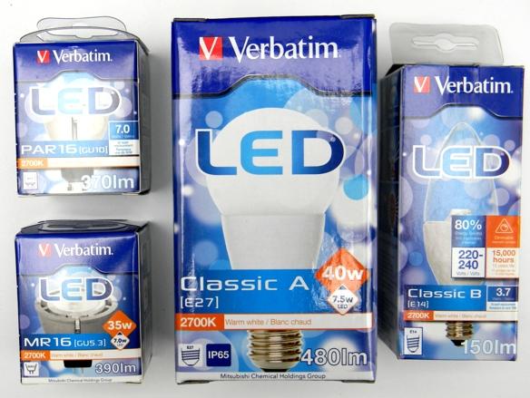 Verbatim-Professional-LED-Verpackungen