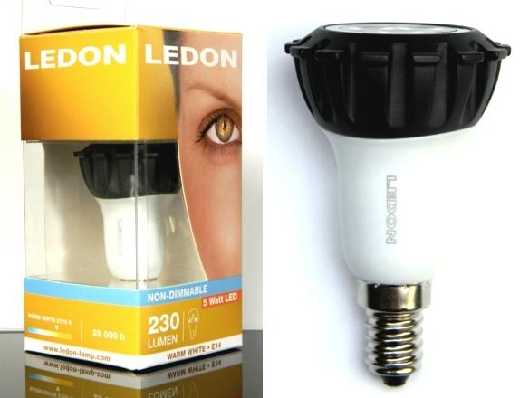LEDON-5W-R50-Packung und -Lampe