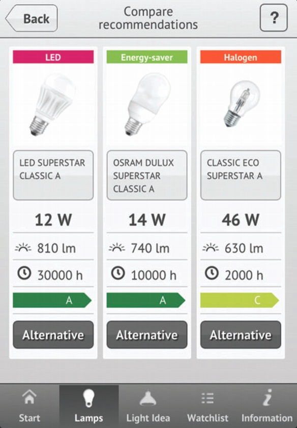 "Osram ""Light Finder""-App"