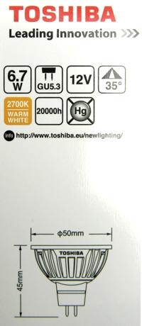 Toshiba-GU5.3-Packung
