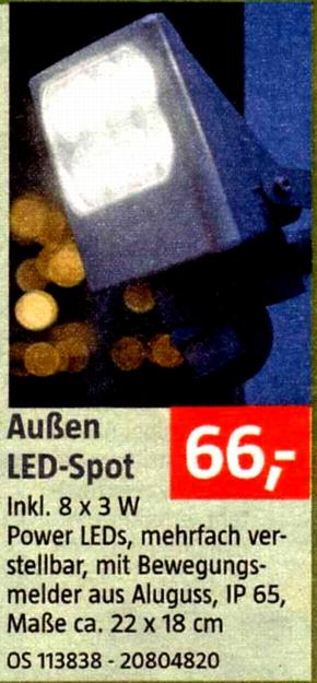 Bauhaus-LED-Außenstrahler 06/13