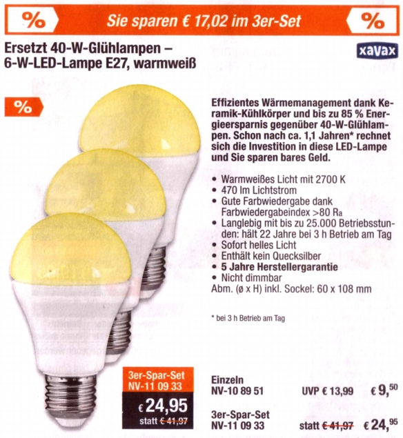 ELV-Xavax-LED
