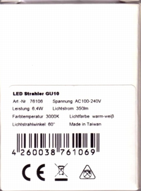 IBH-LED-GU10-Packung