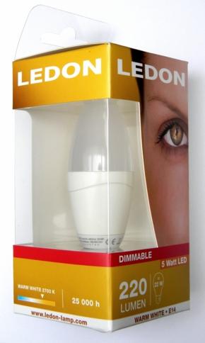 LEDON-5W-Kerze-neu-Packung
