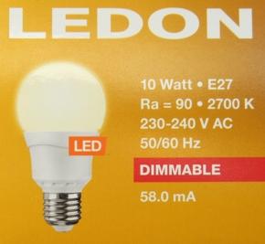 LEDON-10W-600lm-Daten