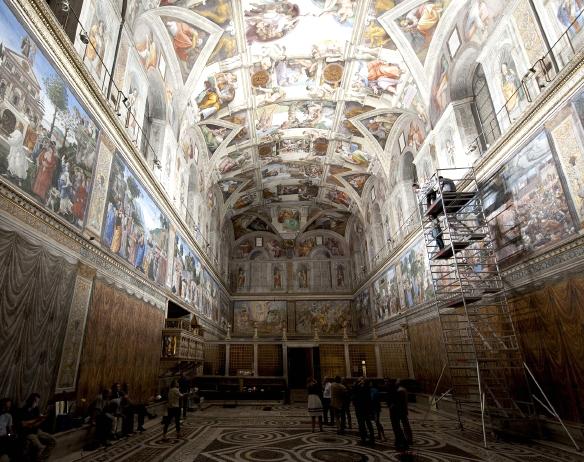 LED-Testinstallation Sixtinische Kapelle