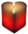 LED-Herz-Kerze