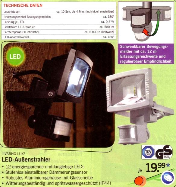 Lidl-LED-Aussenstrahler