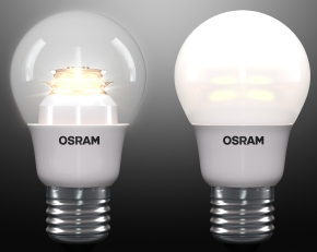 Osram LED Superstar A40 clear and frosted