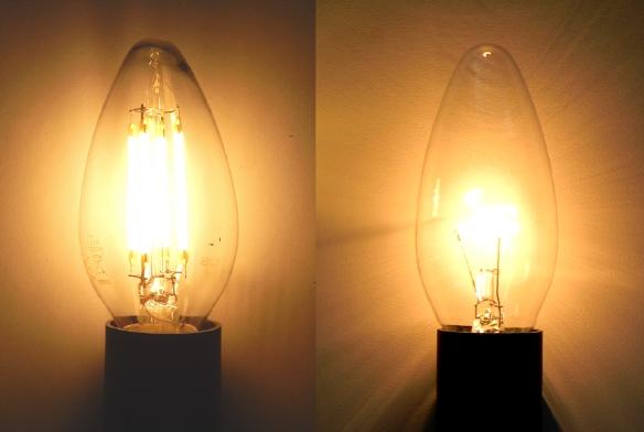 E14 LED Faden Gluehlampen Kerze