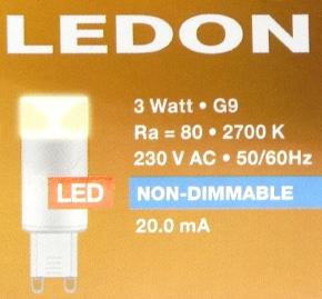 LEDON-G9-Packung-oben