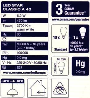 Osram-6,2W-Daten