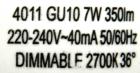 LCTW-GU10-350lm-Aufdruck