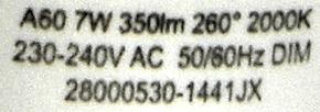 LEDON-7W-Candlelight-Aufdruck