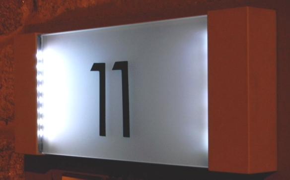 LED-Hausnummer