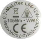 MeLiTec-E27-12W-Aufdruck