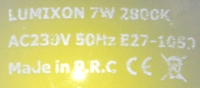 Lumixon-E27-7W-Aufdruck