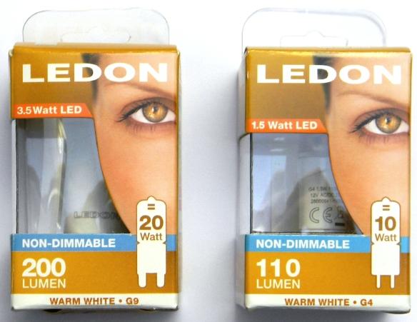 LEDON-G9-G4-Packungen