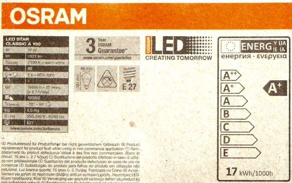 Osram-17W-Daten
