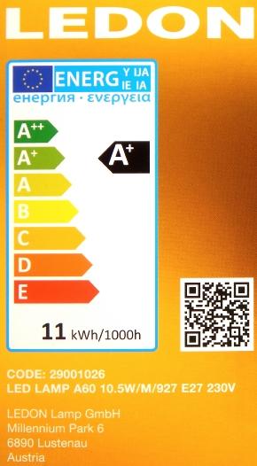 LEDON-E27-10,5W-Packung-Seite