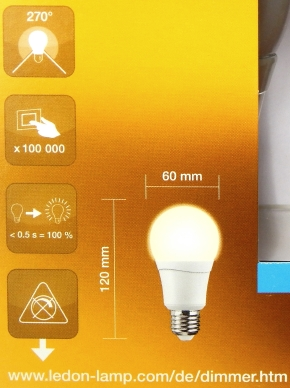 doppeltest neue e27 led lampen von ledon mit 600 und 800. Black Bedroom Furniture Sets. Home Design Ideas