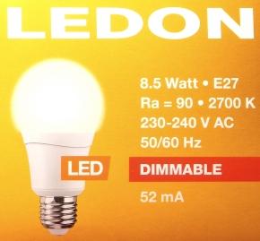 LEDON-E27-8,5W-Packung-oben