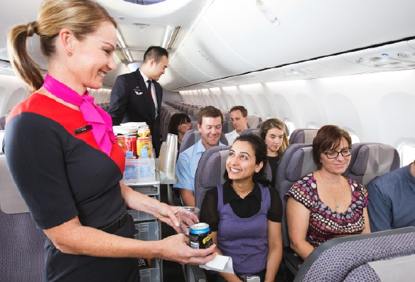 Qantas-Kabine
