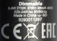 Philips-GU10-5,4W-Aufdruck