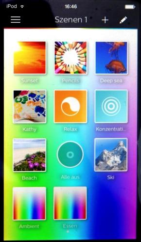 hue-App-Szenen