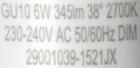 LEDON-GU10-6W-Aufdruck