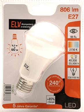 ELV-E27-9,2W-Packung